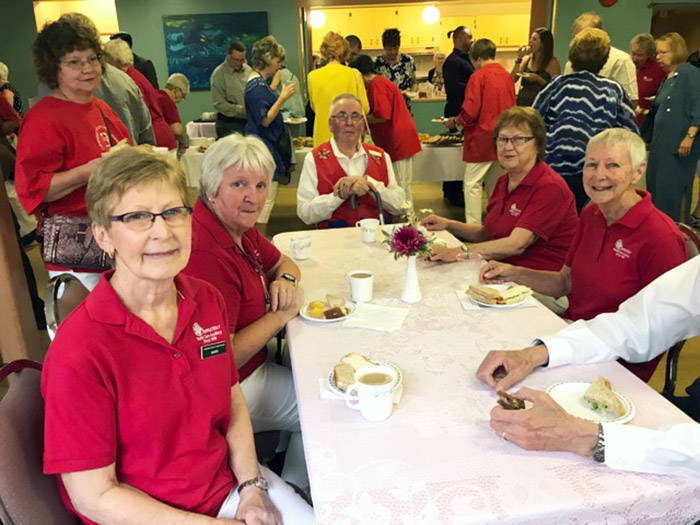 Chemainus Health Care Auxiliary members at the reception following Grace Reay's service.