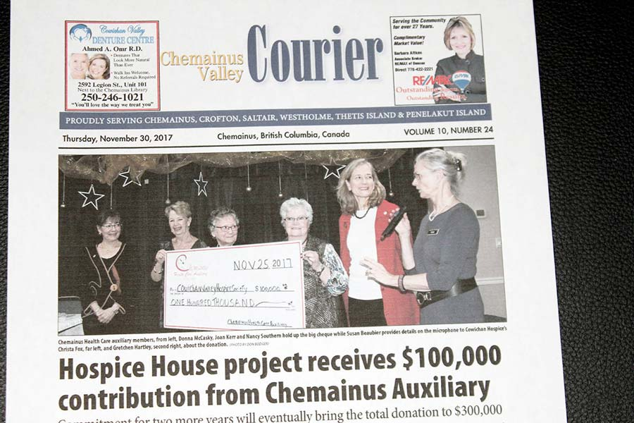 Presents cheque to Hospice House for $100,0002017-11-30