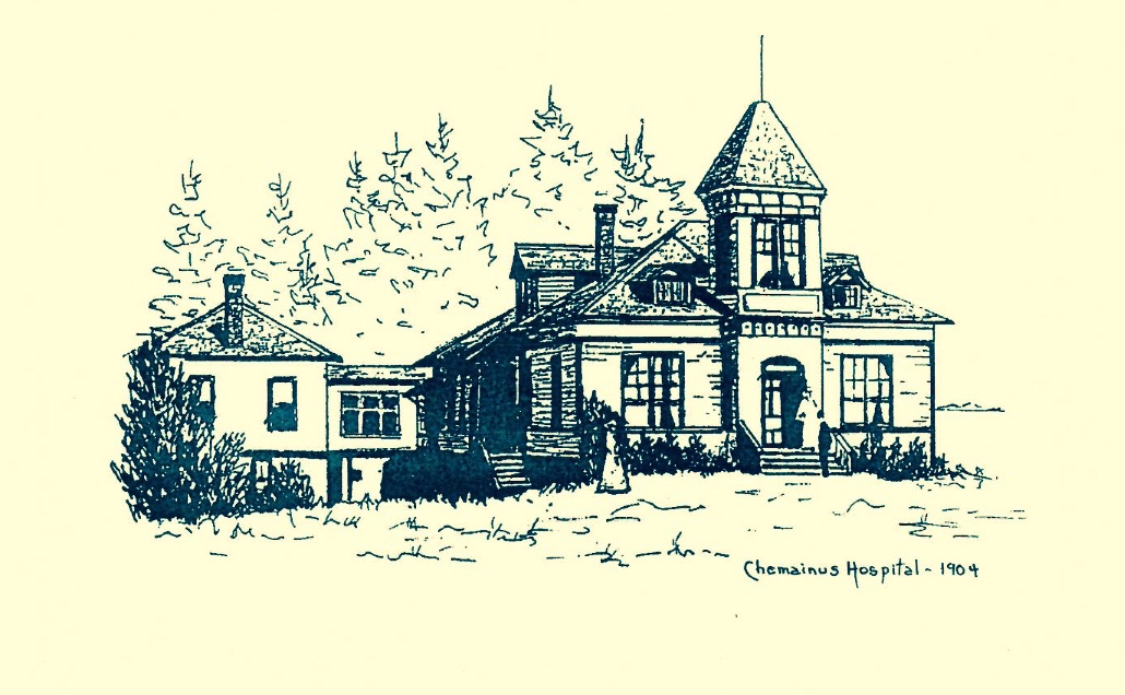 drawing of Chemainus Hospital 1904