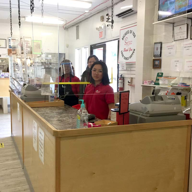 Cashiers at Chemainus Health Auxiliary Thrift Store