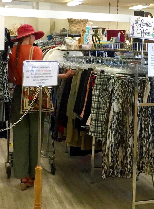 Customer Shopping at Chemainus Thrift Store