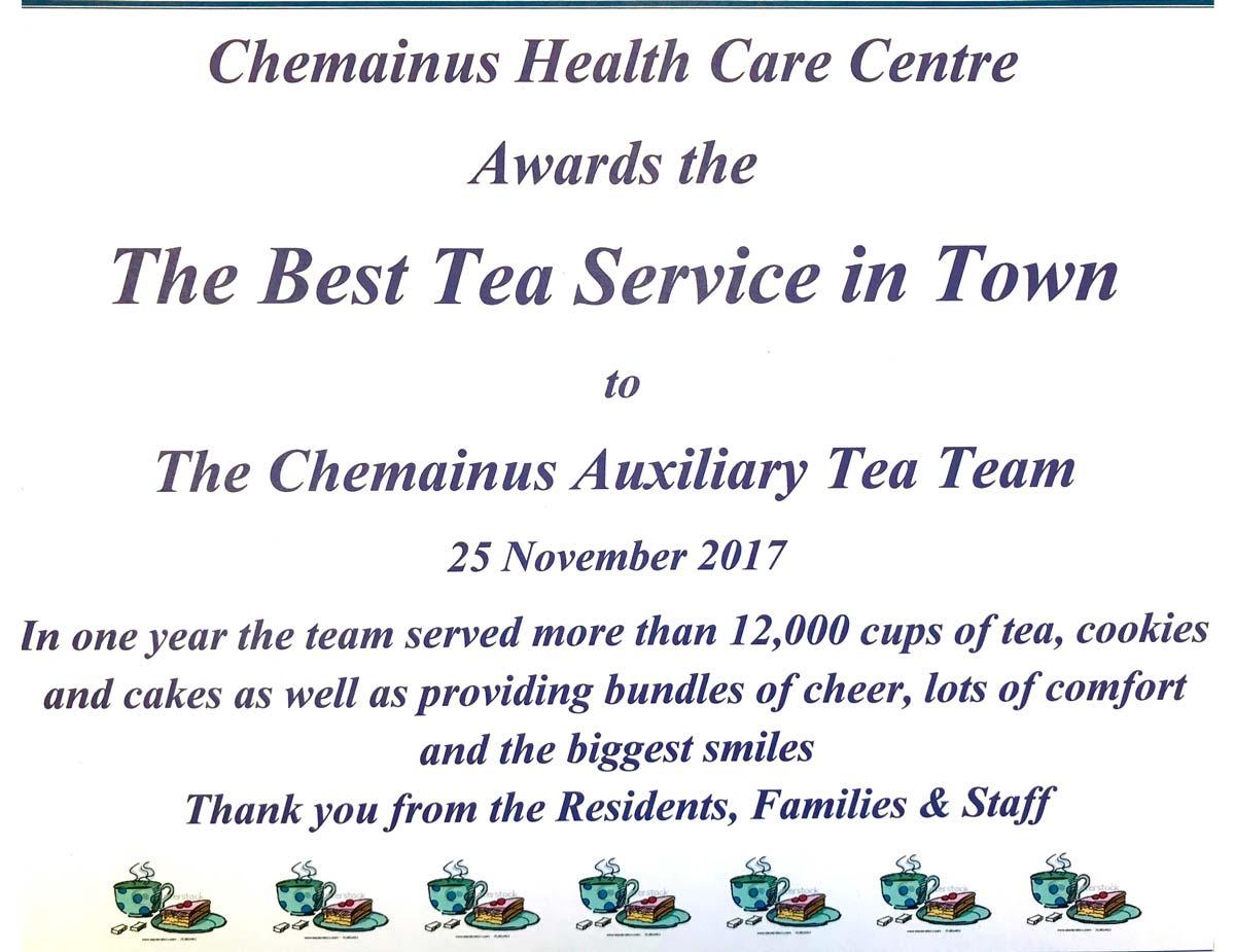 Best Tea Service 2017